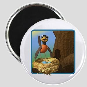 Robin and Bird's Nest Magnet