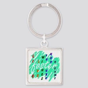 foster.... Square Keychain