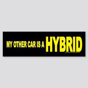 """My other car is a HYBRID"" Bumper Sticker"