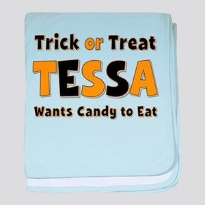 Tessa Trick or Treat baby blanket