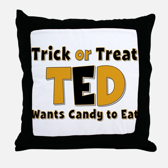 Ted Trick or Treat Throw Pillow