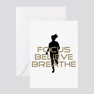 Tan Focus Believe Breathe Greeting Card
