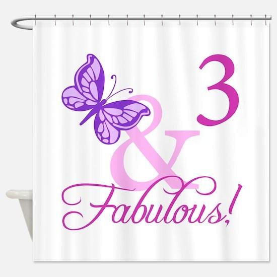 Fabulous 3rd Birthday For Girls Shower Curtain