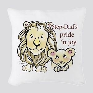 Step-Dads Pride n Joy Woven Throw Pillow