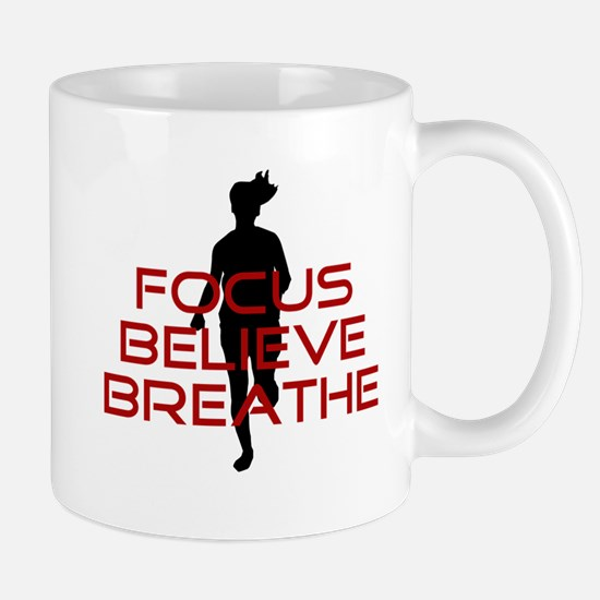 Red Focus Believe Breathe Mug
