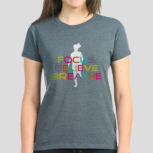 Multicolor Running Women's Dark T-Shirt