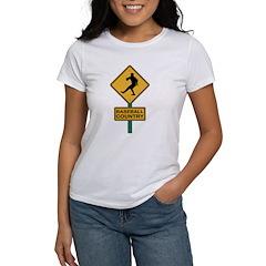 Baseball Country Road Sign Women's T-Shirt