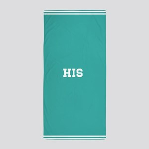 Teal half of his and hers set Beach Towel