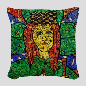 St. Dymphna Woven Throw Pillow