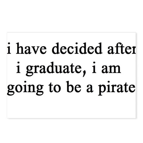 """NEW! Plain """"Pirate"""" Postcards (Package of 8)"""