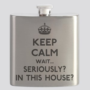 Keep Calm In This House Flask