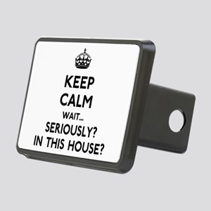 Keep Calm In This House Rectangular Hitch Cover