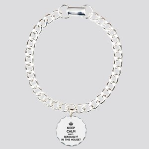 Keep Calm In This House Charm Bracelet, One Charm