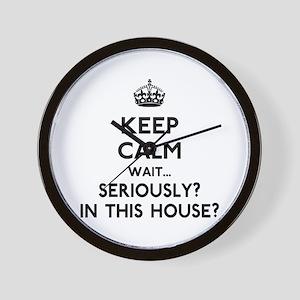 Keep Calm In This House Wall Clock