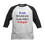 Daddy Fire Engine Attitude Kids Baseball Jersey
