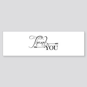 Thank You Arrows Bumper Sticker