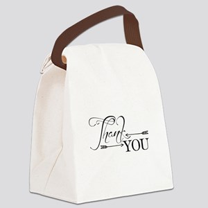 Thank You Arrows Canvas Lunch Bag