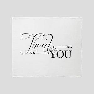 Thank You Arrows Throw Blanket