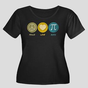 Peace Love Math Plus Size T-Shirt