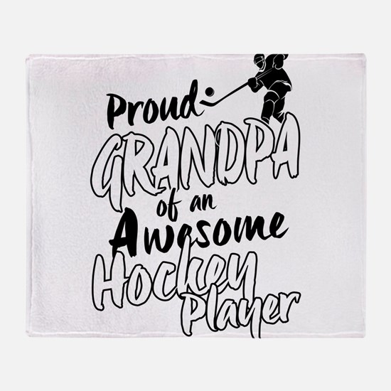 Proud Grandpa of An Awesome Hockey Player Throw Bl