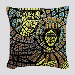St. Anthony of Padua Woven Throw Pillow