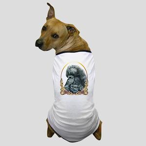 Black Poodle Christmas/Holiday Dog T-Shirt