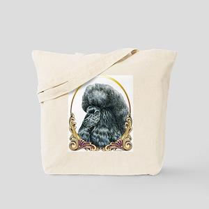 Black Poodle Christmas/Holiday Tote Bag