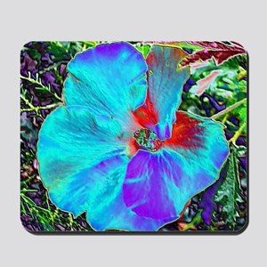 Native Hibiscus flower in bloom Mousepad