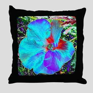 Native Hibiscus flower in bloom Throw Pillow