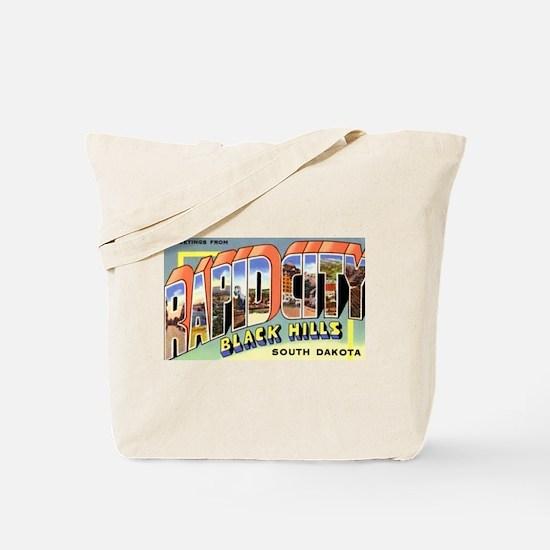 Rapid City South Dakota Greetings Tote Bag