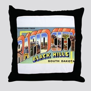 Rapid City South Dakota Greetings Throw Pillow
