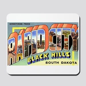Rapid City South Dakota Greetings Mousepad