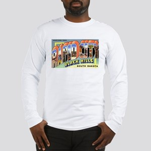 Rapid City South Dakota (Front) Long Sleeve T-Shir