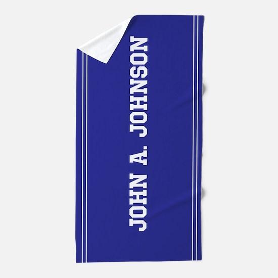 Blue custom name Beach Towel