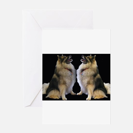 Sitting Kees Reflection Greeting Card