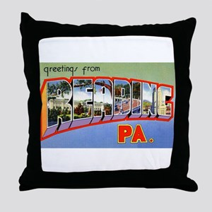 Reading Pennsylvania Greetings Throw Pillow
