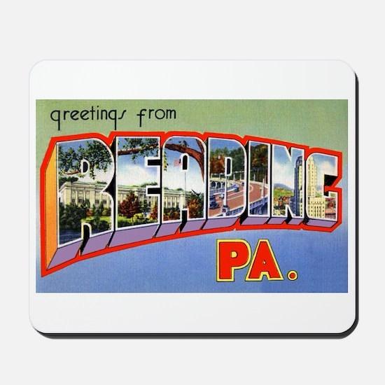 Reading Pennsylvania Greetings Mousepad