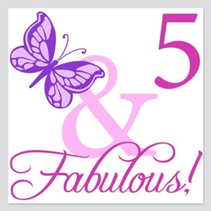 Fabulous 5th Birthday For Girls 525 X Flat C
