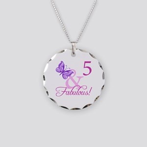 Fabulous 5th Birthday For Girls Necklace Circle Ch