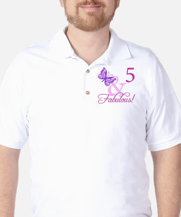 Fabulous 5th Birthday For Girls Golf Shirt