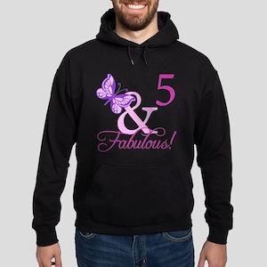 Fabulous 5th Birthday For Girls Hoodie (dark)