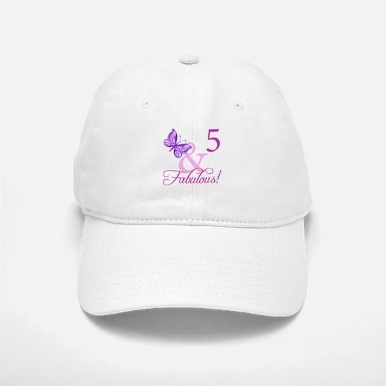 Fabulous 5th Birthday For Girls Baseball Baseball Cap