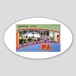 Reading Pennsylvania Greetings Oval Sticker
