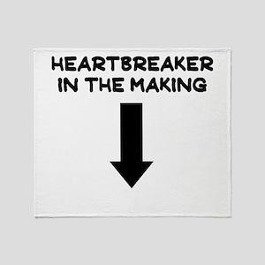 HEARTBREAKER IN THE MAKING Throw Blanket