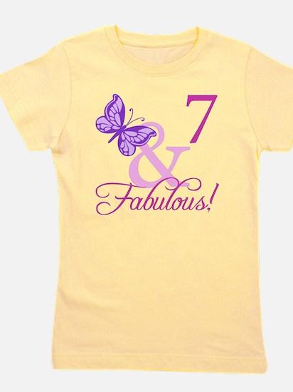 Fabulous 7th Birthday For Girls Girl's Tee