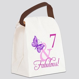 Fabulous 7th Birthday For Girls Canvas Lunch Bag