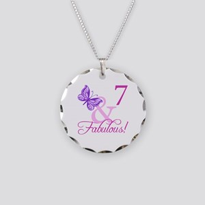 Fabulous 7th Birthday For Girls Necklace Circle Ch