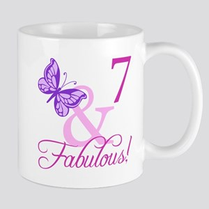Fabulous 7th Birthday For Girls Mug