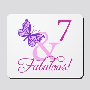 Fabulous 7th Birthday For Girls Mousepad