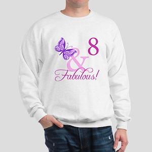 Fabulous 8th Birthday For Girls Sweatshirt